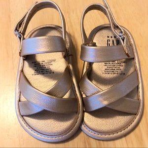 Baby Gap gold sandals